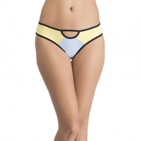 Cotton Low Waist Bikini With Cut-out Front