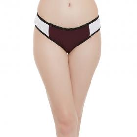 Cotton Mid Waist Colour Blocked Bikini