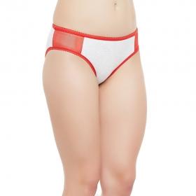 Cotton Mid Waist Coloublocked Bikini