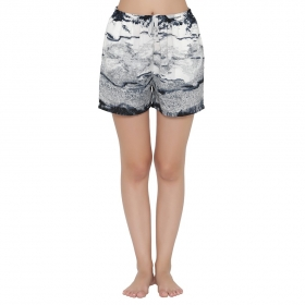 Crepe Printed Shorts