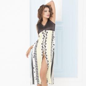 High-slit Printed Dress