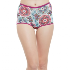 Mid Waist Printed Boyshorts With Full Coverage