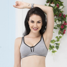 Non-padded Non-wired Double Layered Full Cup Bra
