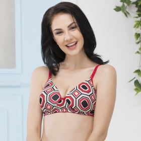 Padded Non-wired Printed T-shirt Bra