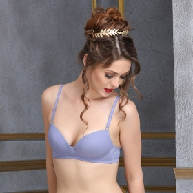 Push Up Demi Cup Balconette T-shirt Bra - Purple