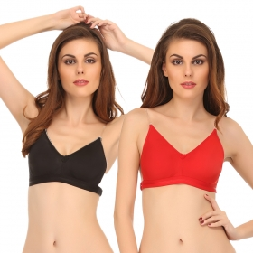 Set Of 2 Backless Multiway Cotton Bra