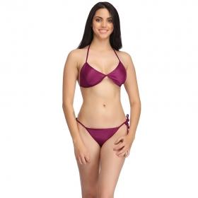 Set Of Halter Neck Bra & Stringy Bikini