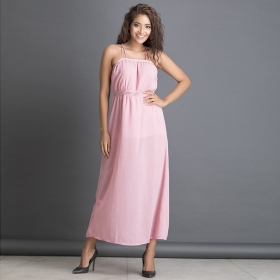 �sheer Beachdress With Crisscross Back And Lace Waist