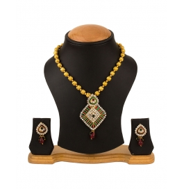 Alloy Jewel Set (white, Gold)