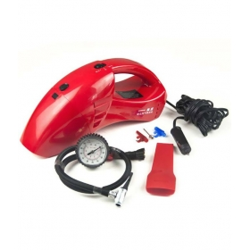 Red 2 In 1 Car Vacuum Cleaner And Tyre Inflator Air Compressor 6023