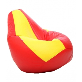 Xxl Bean Bag With Beans In Red & Yellow