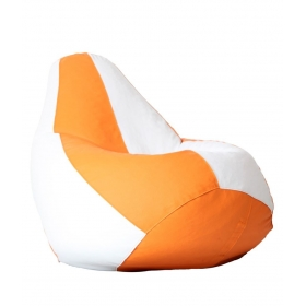 Xxl Bean Bag With Beans In Orange & White