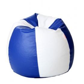 Xxxl Bean Bag With Beans In White & Blue