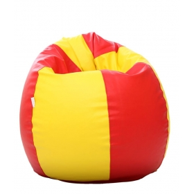 Xxxl Bean Bag With Beans In Red & Yellow