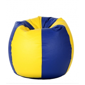 Xxxl Bean Bag With Beans In Blue & Yellow
