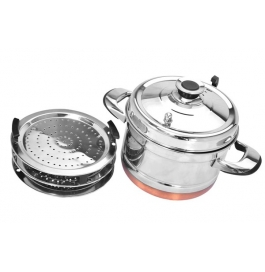 Steamer Pot With Lid And Handle - Combo Pack Of 9 Plates
