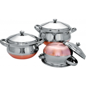 3 Pc Royal Handi Set - Copper Bottom