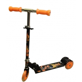 Cosmic Zoomer Led 3 Wheel Kids Kick Scooter Black/orange
