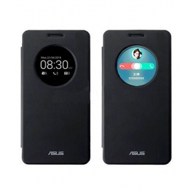 Covercart High Qualityleather Flip Cover For Asus Zenfone 5 - Black