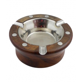Brown Wooden Ash Tray