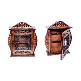 Handicraft Brown Key Holder Box