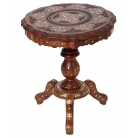 Wooden Foldable Table With Handicrafts Beautiful Design