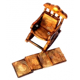 Wooden Handicraft Tea Coaster Set