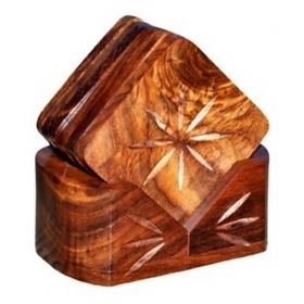 Wooden Handicraft Tea Coaster Set