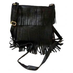 Black P.u. Sling Bag