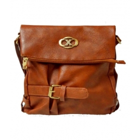 Brown P.u. Sling Bag