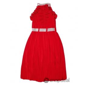 Designer Girls Party Wear Red Frocks
