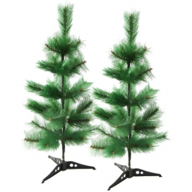 Creativity Centre Multicolor Plastic Christmas Tree-2 Ft (pack Of 2)