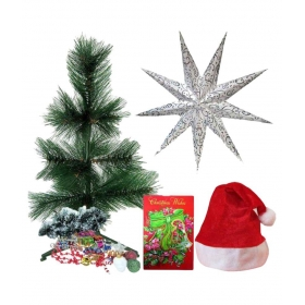 Nylon Christmas Tree- 2 Ft With Sticks,drums,balls,bells