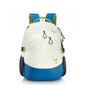 Skybags Crew 2.5 L Laptop Backpack (white, Blue)