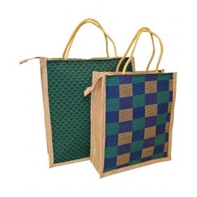 Bag Jute Multi Color Grocery Bag
