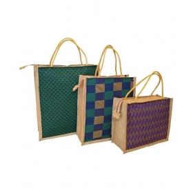 Jute Bag Jute Multi Color Grocery Bag