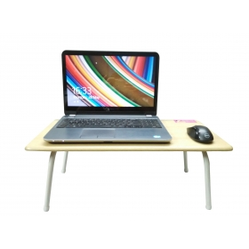 Laptop Table For Upto 35.56 Cm (14) White Foldable, Multipurpose, Pre-assembled.