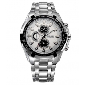 Curren Men Silver Metal Planet Ocean Analog Watch