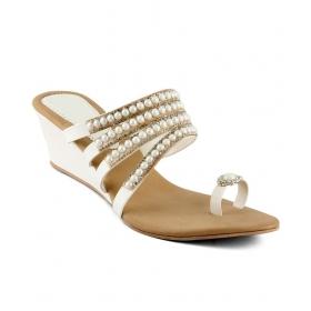 White Flat Slip-on & Sandal