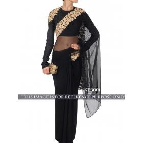 Sas Creations Net Black Saree