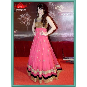 Sas Creations Best Desiner Net Pink Lehenga