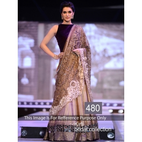 A Designer Wear Lehenga Chunni With Unstiched Blouse By Sas Creations