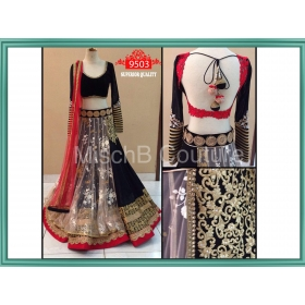 Sas Creations Georgette Multi Lehenga