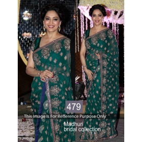 Sas Creations Designer Wear Bollywood Replica Saree With Blouse