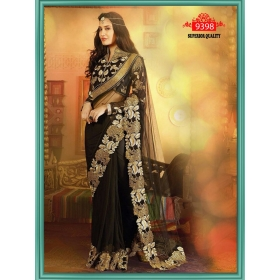 Sas Creations Net Black Saree