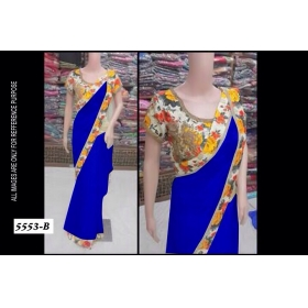 Designer Party Wear Elegant Look Saree With Blouse