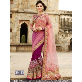Sas Creations Multi Georgette Saree