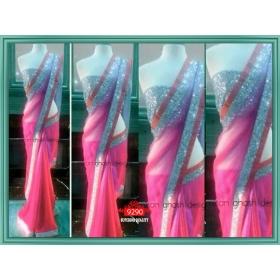Sas Creations Net Pink Saree