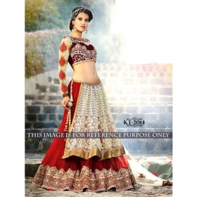 Sas Creations Fab Pretty Net Multi Lehenga