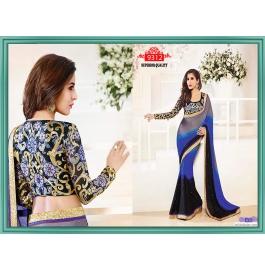 Sas Creations Best Chiffon Blue Saree